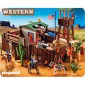 PLAYMOBIL WESTERN 5245 GRAND FORT DES SOLDATS AMERICAINS