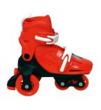 ROLLERS QUAD AJUSTABLES ET TRANSFORMABLES ROUGE 31 A 34 - JEU PLEIN AIR
