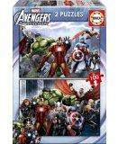 2 PUZZLES SUPER HEROS AVENGERS 100 PIECES - EDUCA - 15771