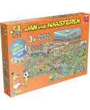 3 PUZZLES FOOTBALLEURS DEJANTES - 500 - 750 - 1000 PIECES - COLLECTION JAN VAN HAASTEREN - JUMBO - 19004