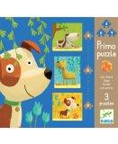 3 PUZZLES PRIMO - LES CHIENS 4 - 6 - 9 PIECES - DJECO - DJ07137