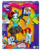 COFFRET POUPEE + PONEY RAINBOW DASH - RAINBOW ROCKS - MY LITTLE PONY EQUESTRIA GIRLS - HASBRO - A6871