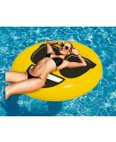 MATELAS GONFLABLE PISCINE XL EMOJI COOL 140 CM - BOUEE EMOTICONE SMILEY FUN