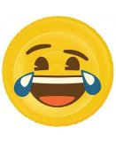 MATELAS GONFLABLE PISCINE XL EMOJI LOL 140 CM - BOUEE EMOTICONE SMILEY MORT DE RIRE