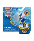 PAT PATROUILLE CHASE MIGHTY PUPS AVEC BADGE ET PATTES LUMINEUX - FIGURINE CHIEN - PAW PATROL - SPIN MASTER - 20107727