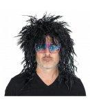 PERRUQUE ROCKEUR NOIR HOMME - ROCK STAR, PUNK, ANNEES 80