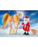 PLAYMOBIL CHRISTMAS 9498 DUO PACK PERE NOEL ET ANGE