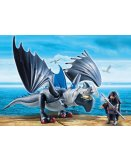 PLAYMOBIL DRAGONS 9248 DRAGO AVEC DRAGON DE COMBAT