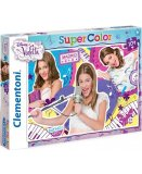 PUZZLE DISNEY VIOLETTA - 104 PIECES - PUZZLE SUPER COLOR - CLEMENTONI - 27878