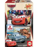 PUZZLE EN BOIS CARS 2 2 X 50 PIECES - EDUCA - 14936