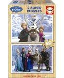 PUZZLE EN BOIS DE LA REINE DES NEIGES / FROZEN 2 X 50 PIECES - EDUCA - 16163