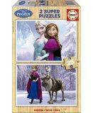 PUZZLE EN BOIS LA REINE DES NEIGES 2 X 25 PIECES - EDUCA - 16162