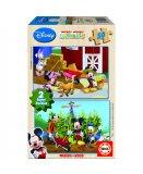 PUZZLE EN BOIS MICKEY 2 X 50 PIECES - EDUCA - 15285