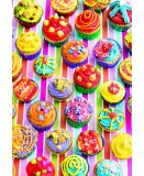 PUZZLE LES GATEAUX - CUP CAKES DE COULEURS 500 PIECES - COLLECTION PATISSERIE - EDUCA - 15549