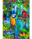 PUZZLE PERROQUET : PARADIS TROPICAL 500 PIECES - COLLECTION ANIMAUX - EDUCA - 15512