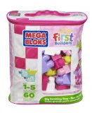 SAC MEDIUM ROSE 60 BLOCS MAXI - MEGA BLOKS - 8417 - JEU DE CONSTRUCTION