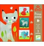 3 PUZZLES PRIMO - LES CHATS 9 - 12 - 16 PIECES - DJECO - DJ07136