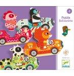 8 PUZZLES EN BOIS BOLIDANIMO - 16 PIECES - DJECO - DJ01555