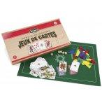 COFFRET EN BOIS JEUX DE CARTES  - JEUJURA - 8145
