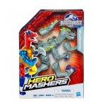 FIGURINE HERO MASHERS JURASSIC WORLD VELOCIRAPTOR GRIS - DINOSAURE - HASBRO DINO - B3240