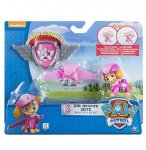 PAT PATROUILLE AIR RESCUE STELLA SAC A DOS AVEC AILES  ET BADGE - FIGURINE CHIEN - PAW PATROL - SPIN MASTER - 20071469
