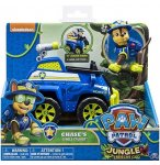 PAT PATROUILLE CHASE ET LE TOUT TERRAIN POLICE - FIGURINE CHIEN - PAW PATROL JUNGLE RESCUE - SPIN MASTER