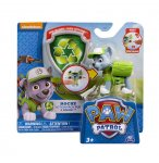PAT PATROUILLE ROCKY AVEC SAC A DOS ET BADGE - FIGURINE CHIEN - PAW PATROL - SPIN MASTER - 20064338