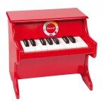 PIANO ROUGE CONFETTI EN BOIS - JANOD - J07622 - INSTRUMENT DE MUSIQUE