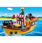 PLAYMOBIL 1.2.3 9118 BATEAU DE PIRATE