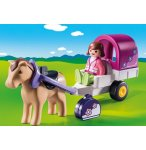 PLAYMOBIL 1.2.3 9390 CARRIOLE AVEC CHEVAL