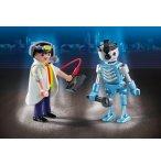 PLAYMOBIL CITY ACTION 6844 INVENTEUR ET ROBOT