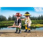 PLAYMOBIL COUNTRY 9217 DUO PACK GARDE FORESTIER ET BRACONNIER