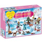 PLAYMOBIL NOEL 9008 CALENDRIER AVENT FAMILLE ROYALE EN PATINS A GLACE