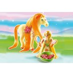 PLAYMOBIL PRINCESSE 6168 PRINCESSE MIMOSA AVEC CHEVAL A COIFFER