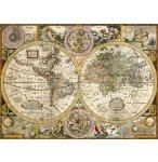 PUZZLE ANCIENNE CARTE DU MONDE 3000 PIECES - COLLECTION PAYS - CLEMENTONI 33531