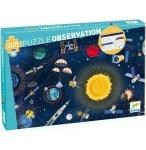 PUZZLE D'OBSERVATION L'ESPACE : FUSEE PLANETE SATELLITE 200 PIECES - DJECO - DJ07413