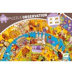 PUZZLE D'OBSERVATION ROND - HISTOIRE 350 PIECES AVEC POSTER ET LIVRET - DJECO - DJ07470