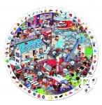 PUZZLE D'OBSERVATION ROND - LES POMPIERS 208 PIECES - JANOD - J02793