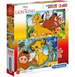 PUZZLE DISNEY - LE ROI LION : SIMBA TIMON PUMBA 2 X 60 PIECES - CLEMENTONI - 21604