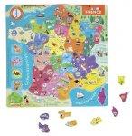 PUZZLE EN BOIS LA FRANCE MAGNETIQUE - 94 PIECES - JANOD - 05486