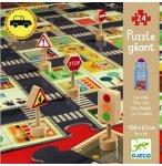 PUZZLE GEANT LA VILLE 24 PIECES POUR JOUER AVEC TES VOITURES - DJECO - DJ07161