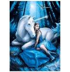 PUZZLE LA LUNE BLEUE 1000 PIECES - ANNE STOKES - COLLECTION LICORNE - CLEMENTONI - 39462