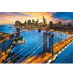 PUZZLE LA VILLE DE NEW-YORK ET LE COUCHER SOLEIL 3000 PIECES - COLLECTION ETAT-UNIS - CLEMENTONI 33546