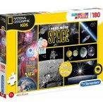 PUZZLE LES PLANETES ET L'ESPACE - 180 PIECES - COLLECTION NATIONAL GEOGRAPHIC - CLEMENTONI - 29206