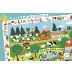 PUZZLE OBSERVATION LES ANIMAUX DE LA FERME - 35 PIECES - DJECO - DJ07591