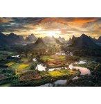 PUZZLE PAYSAGE DE CHINE 2000 PIECES - COLLECTION RIZIERE ET MONTAGNE - CLEMENTONI - 32564
