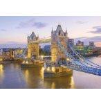 PUZZLE PONT DE LONDRE : TOWER BRIDGE ET LEVEE DU JOUR 1000 PIECES - COLLECTION MONUMENT ANGLETERRE - CLEMENTONI - 39022