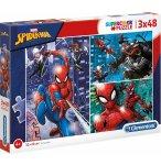 PUZZLE SPIDERMAN 3 X 48 PIECES - CLEMENTONI COLLECTION SUPER HEROS SPIDER-MAN - 25238