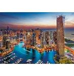PUZZLE VILLE DE DUBAI QUARTIER DE LA MARINA 1500 PIECES - COLLECTION PAYS - CLEMENTONI - 31814