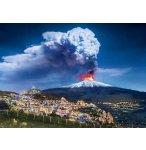 PUZZLE VOLCAN EN ERUPTION : ETNA 1000 PIECES - COLLECTION PAYSAGE D'ITALIE - CLEMENTONI 39453